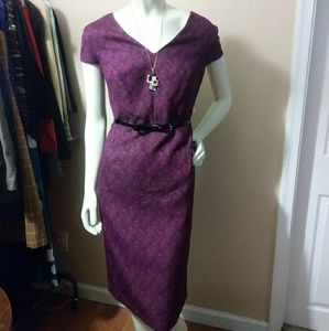 Pink & Black Wiggle Dress NWT by Kasper sz 16